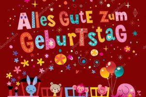 te deseo feliz cumpleaños en alemán