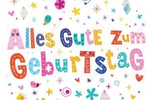 como se escribe feliz cumpleaños en aleman