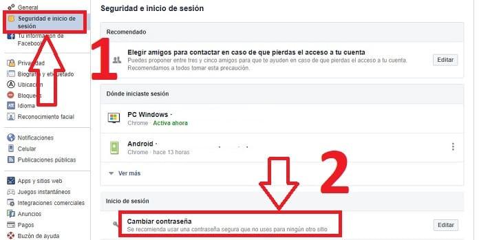 Cómo Cambiar Tu Contraseña De Facebook