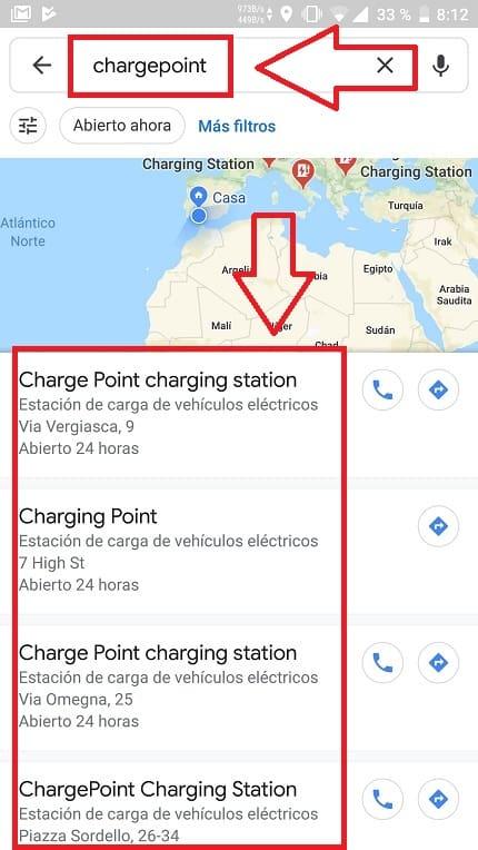 puntos para cargar coche eléctrico