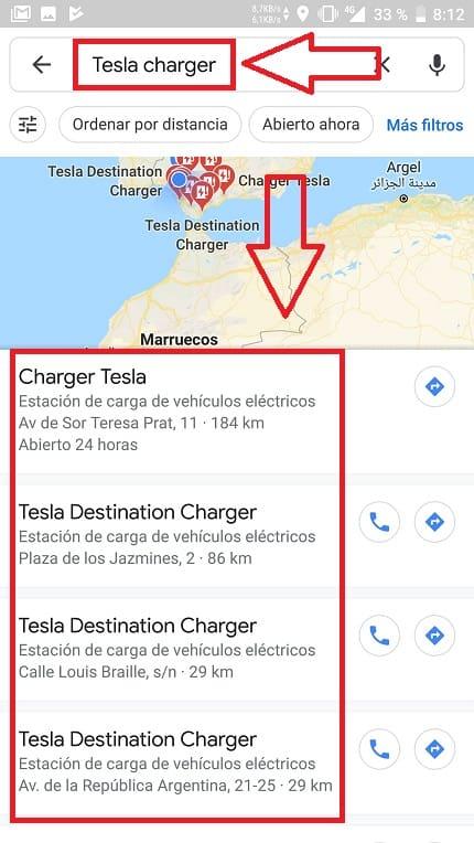Puntos de carga de coches eléctricos en España