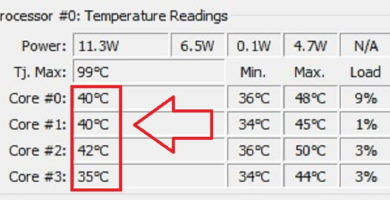 Temperaturas de la cpu de windows 10.