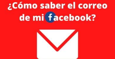 el correo de mi Facebook