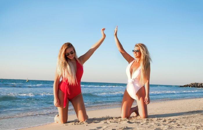 Bikini para cuerpo reloj de arena